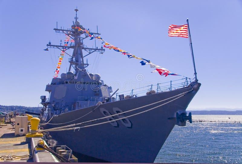 anslutad slagskeppjagare arkivbilder