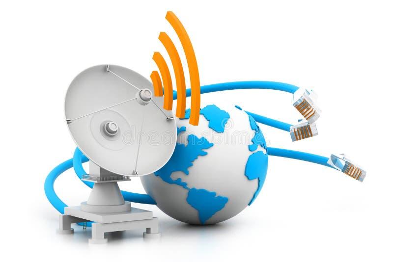 Anslutning för globalt nätverk stock illustrationer