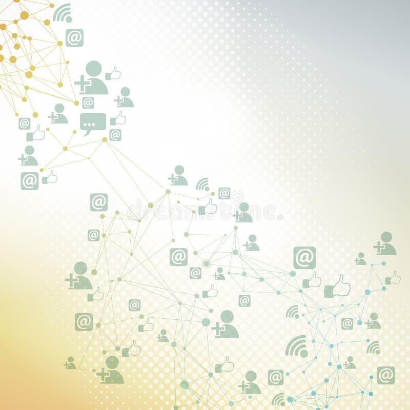 Anslutning för social teknologi stock illustrationer
