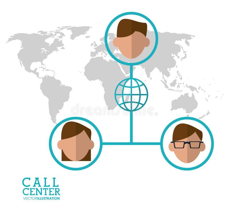 anslutning för värld för tecken för appellmitt global stock illustrationer
