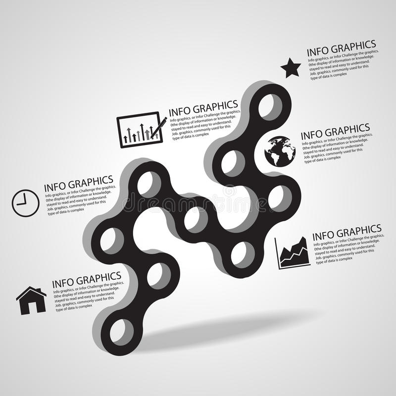 Anslutning för vektorcirkelaffärsidéer med symboler, illustration eps 10 stock illustrationer
