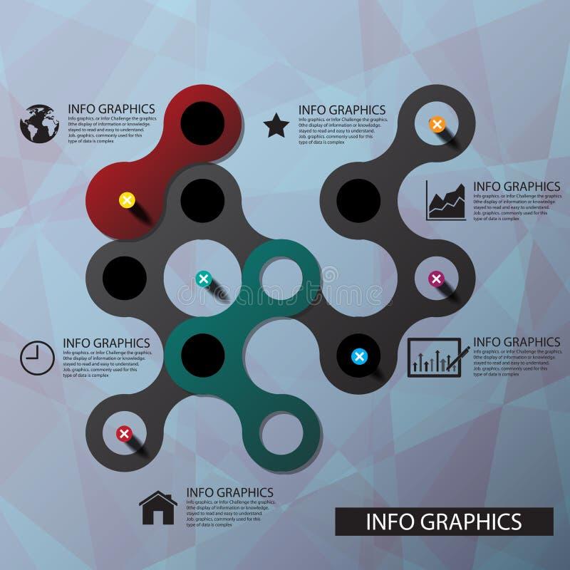 Anslutning för vektorcirkelaffärsidéer med symbolsillustrationen stock illustrationer
