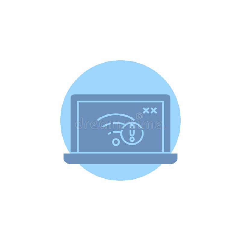anslutning fel, internet som är borttappad, internetskårasymbol stock illustrationer