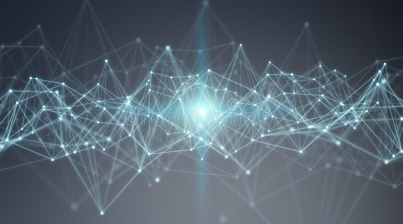 Anslutningar system och tolkning för datautbyten 3D royaltyfri illustrationer