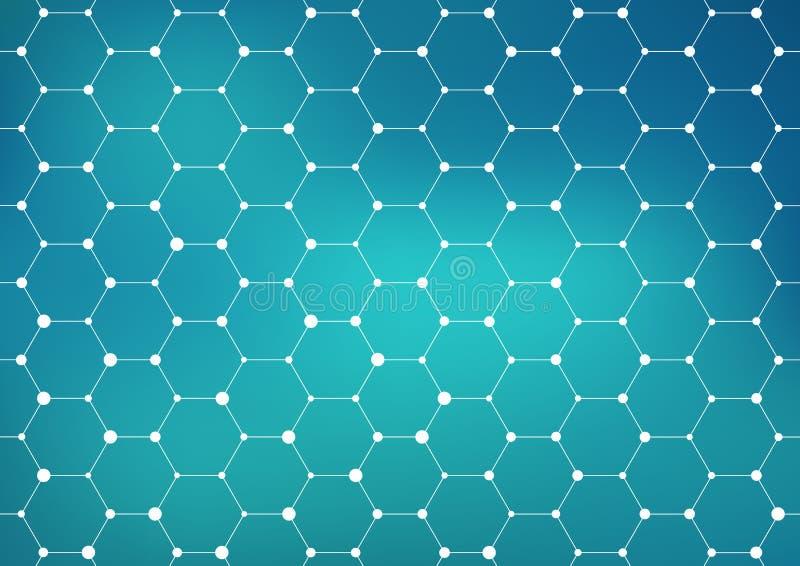 Anslutningsstruktur geometrisk abstrakt bakgrund Medicin vetenskap och teknik royaltyfri illustrationer