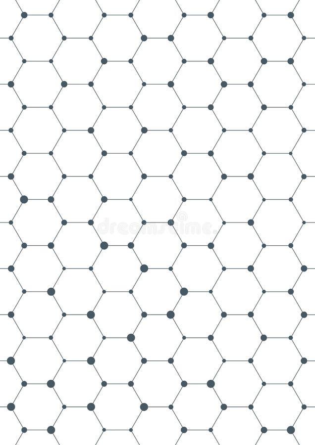 Anslutningsstruktur geometrisk abstrakt bakgrund Medicin vetenskap och teknik Vektorillustration för ditt royaltyfri illustrationer