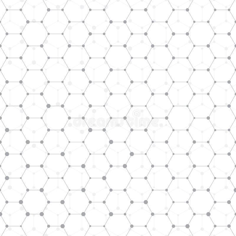 Anslutningsstruktur Molekyl av DNA:t och neurons abstrakt bakgrund Medicin vetenskapsteknologi vektor stock illustrationer
