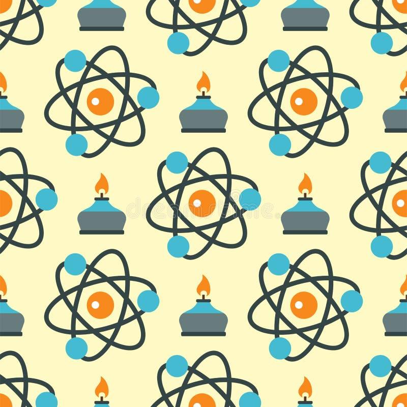 Anslutningsstrukturmolekyl av illustrationen för vektor för teknologi för vetenskap för modell för DNAneuronsbakgrund den sömlösa stock illustrationer