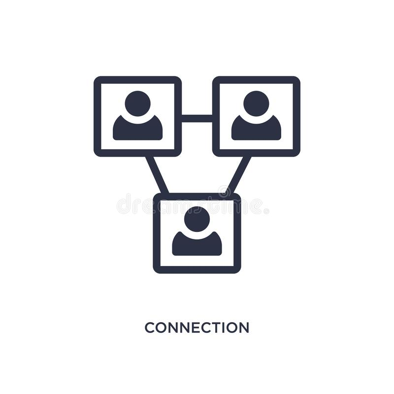 anslutningssymbol på vit bakgrund Enkel beståndsdelillustration från strategibegrepp stock illustrationer