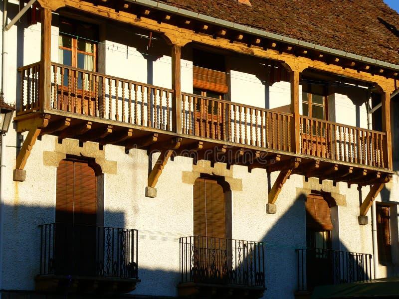 Anso, Huesca ( Spain ). Balcony of a house in Ansó, Huesca Aragon, Spain royalty free stock photo
