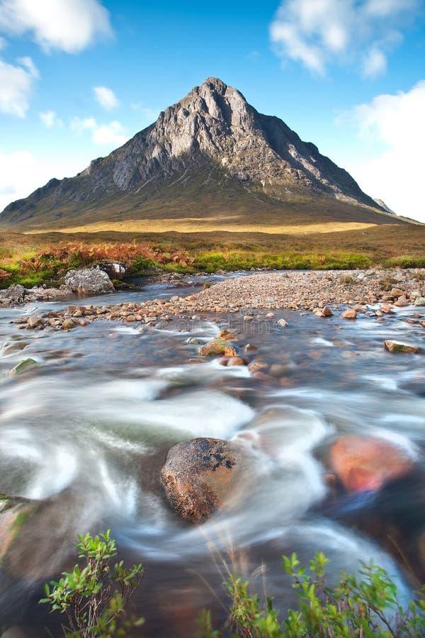 ANSR de Buachaille Etive em Glencoe, Scotland fotografia de stock
