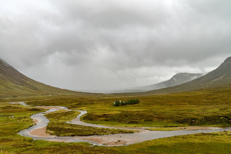 ANSR de Buachaille Etive no dia chuvoso Escócia fotografia de stock