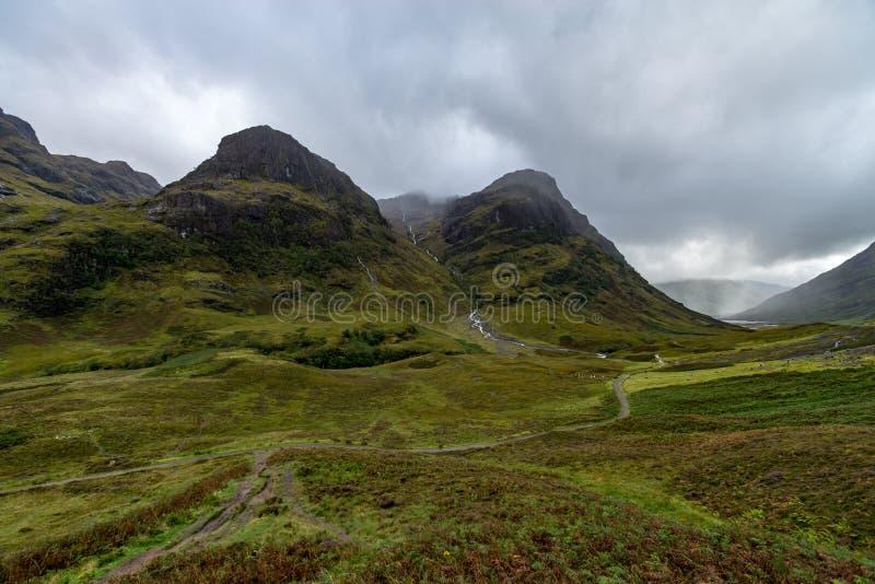 ANSR de Buachaille Etive no dia chuvoso Escócia foto de stock royalty free