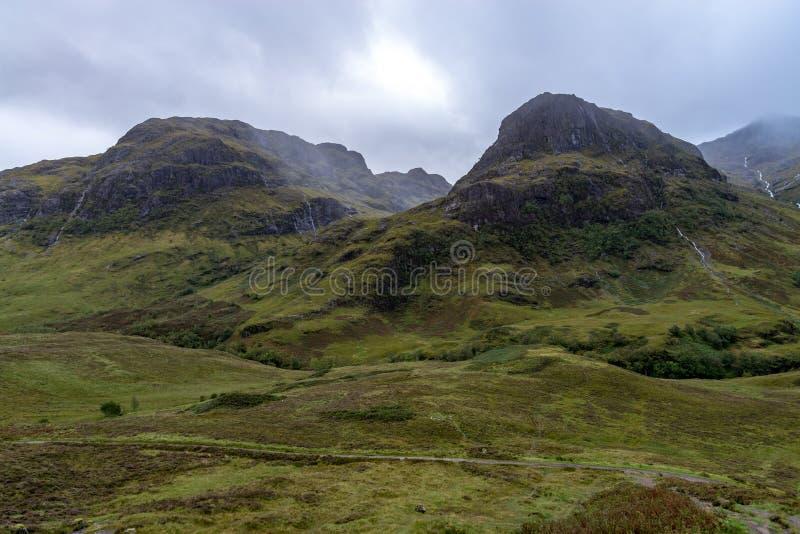 ANSR de Buachaille Etive no dia chuvoso Escócia fotos de stock