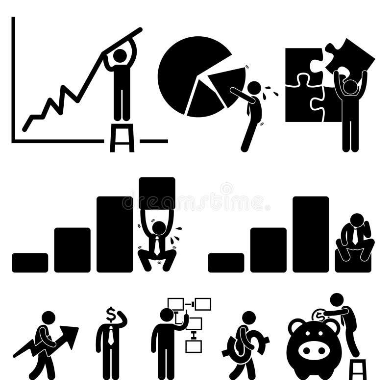 Anställd för affärsfinansdiagram royaltyfri illustrationer