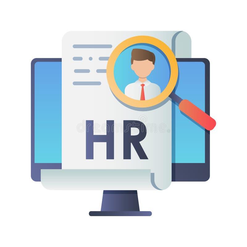 anställdillustration för begrepp 3d resurser för folk för affärsaffärskvinnagrupp mänskliga stora Begreppswebbsida, baner, presen royaltyfri illustrationer