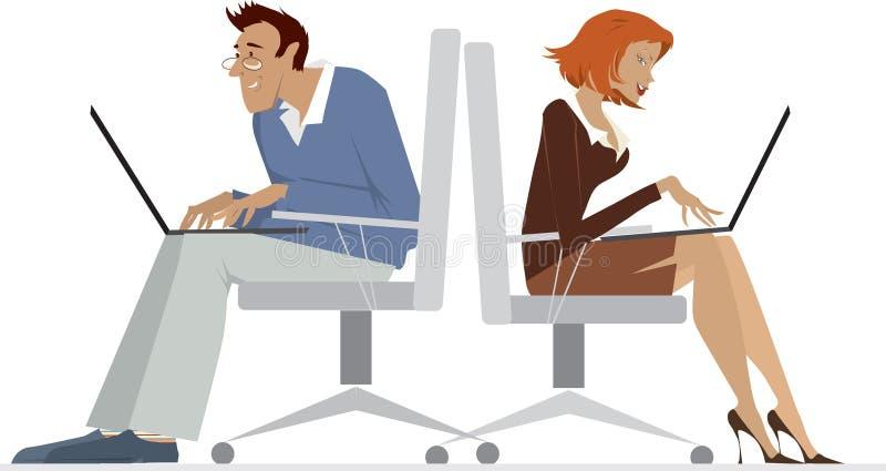 anställdkontor vektor illustrationer