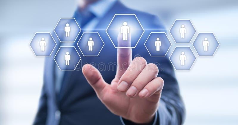 Anställning för rekrytering för personalresurstimme-ledning som jagar huvuden begrepp royaltyfri foto