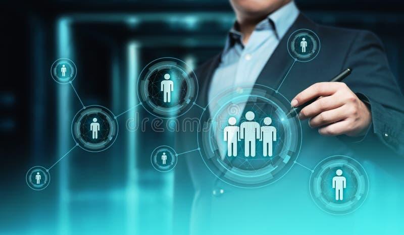 Anställning för rekrytering för personalresurstimme-ledning som jagar huvuden begrepp royaltyfria bilder