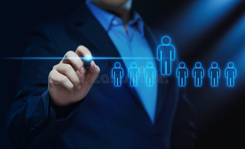 Anställning för rekrytering för personalresurstimme-ledning som jagar huvuden begrepp royaltyfria foton