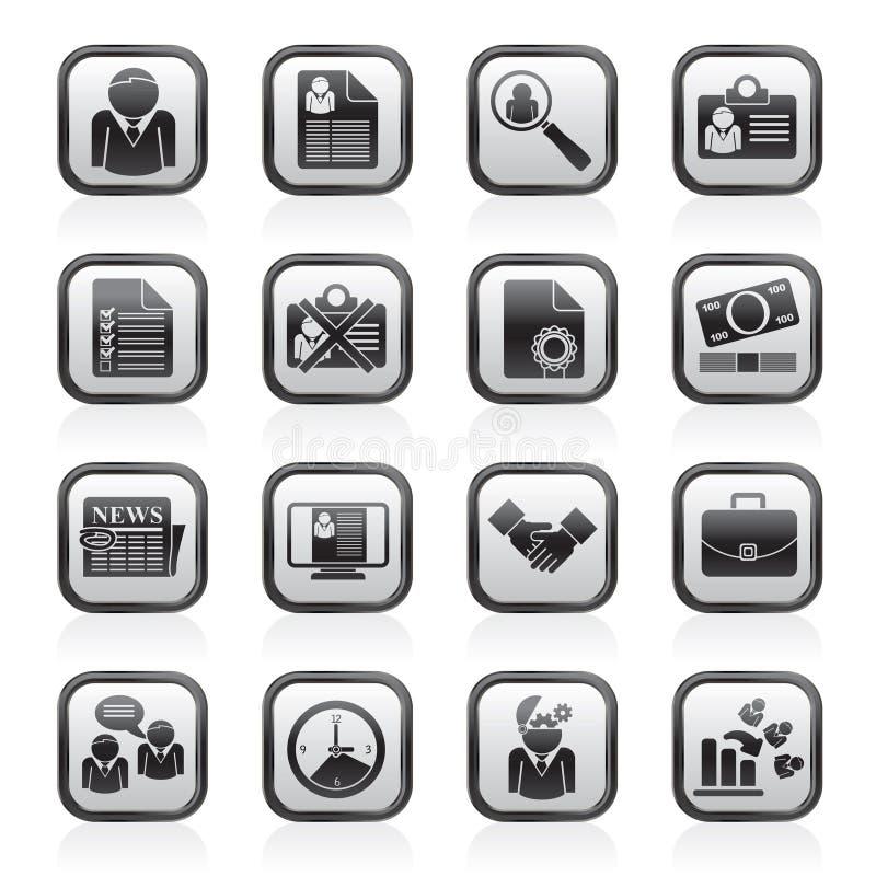 Anställning- och jobbsymboler royaltyfri illustrationer
