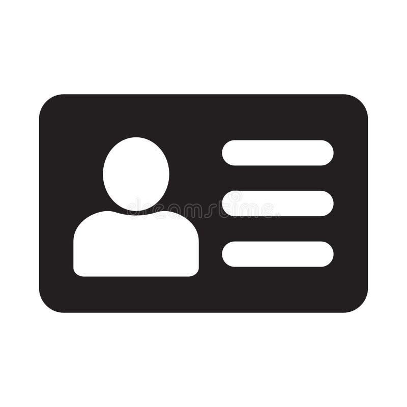 Anst?lldkontoristkort, illustration f?r vcardvektorsymbol f?r den grafiska designen, logo, webbplats, socialt massmedia, mobil ap vektor illustrationer