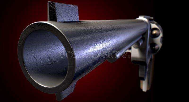 Anstarren hinunter das Fass eines Gewehrs lizenzfreie stockfotografie
