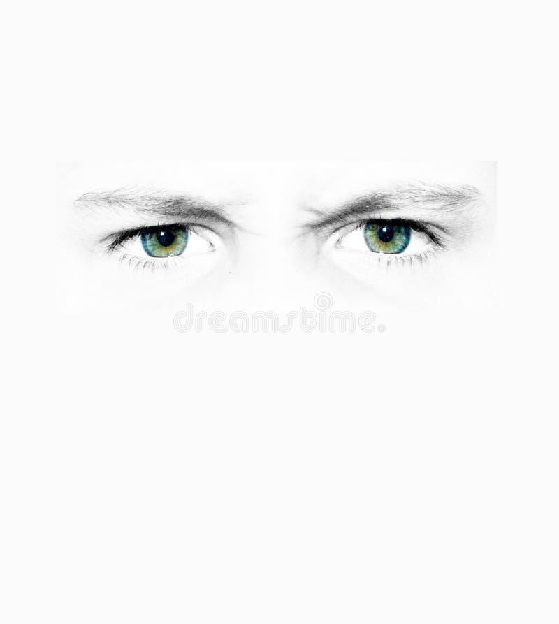 Download Anstarrende Augen stockbild. Bild von intensiv, pupille - 29899