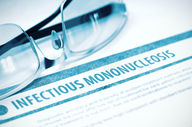 Ansteckende Mononukleosis medizin Abbildung 3D stockbilder