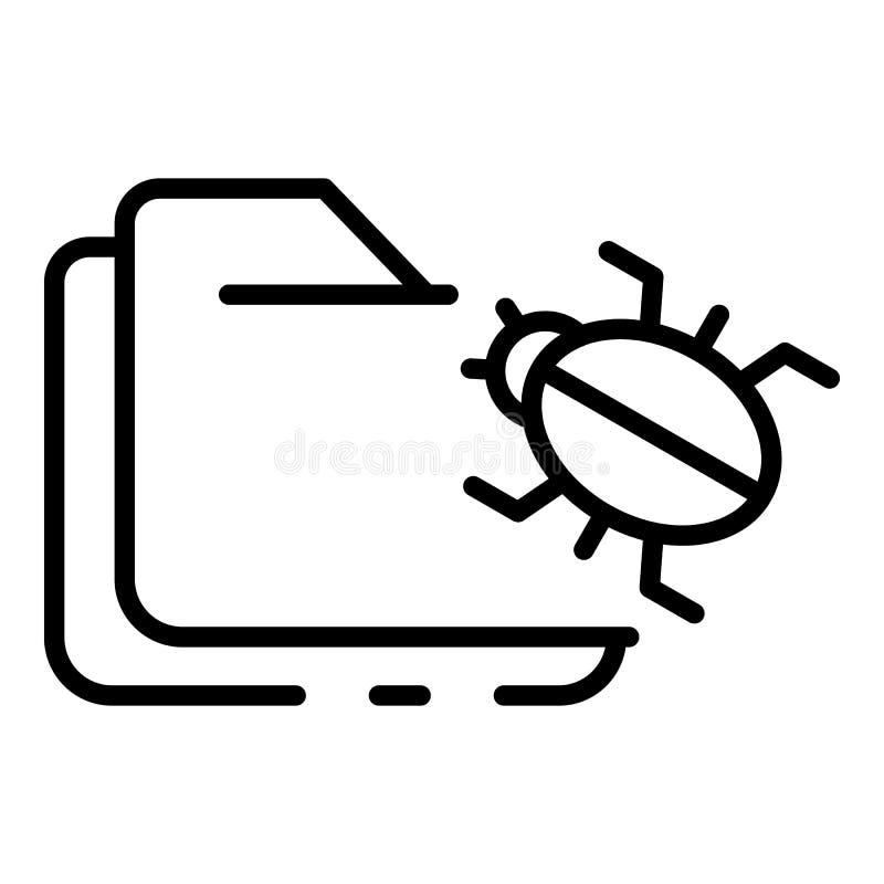 Ansteckung der Ordnerikone, Entwurfsart lizenzfreie abbildung
