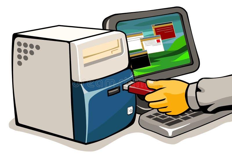 Ansteckung des Virus lizenzfreie abbildung