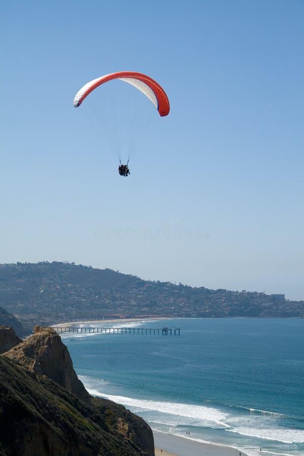 Ansteigen über La Jolla lizenzfreies stockbild
