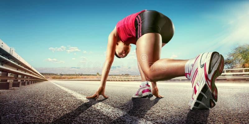 Anstellen des Läufers lizenzfreies stockfoto