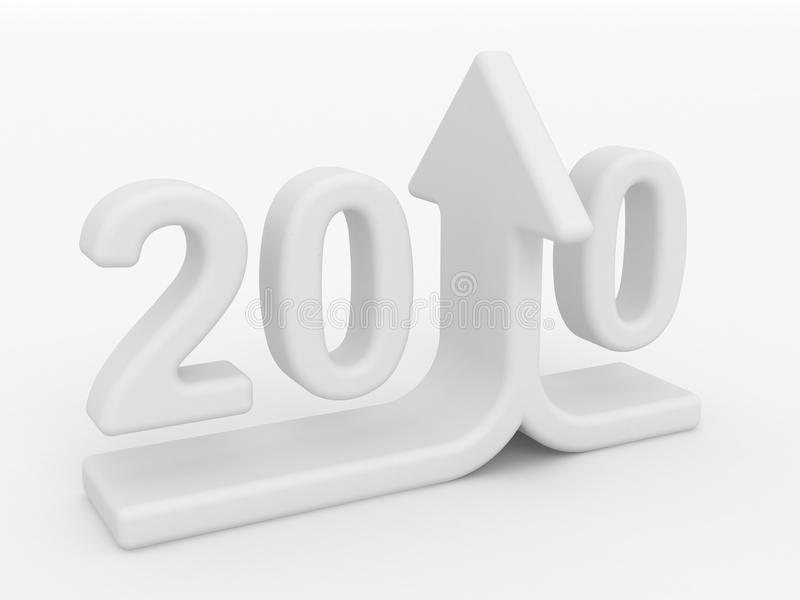 Anstieg 2010 stock abbildung