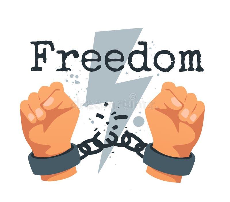 Ansträngning för frihetsbegrepp royaltyfri illustrationer