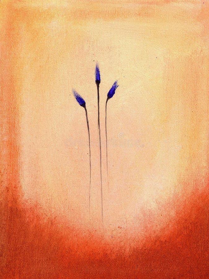 Anstrich der blauen Blumen lizenzfreie abbildung