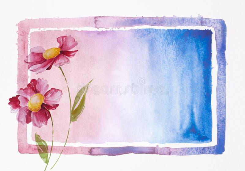 Anstrich der Blumen lizenzfreie abbildung