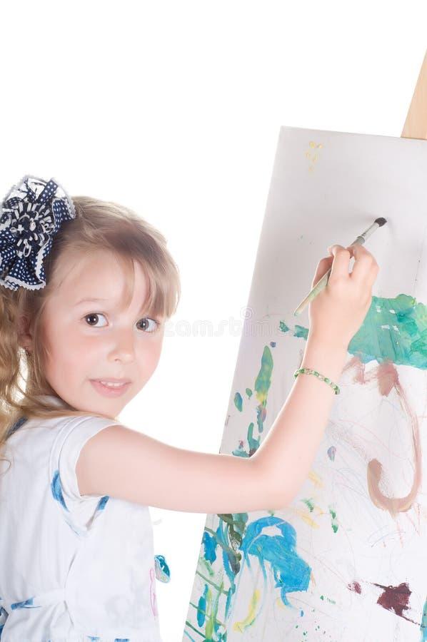 Anstrich des kleinen Mädchens lizenzfreie stockfotografie