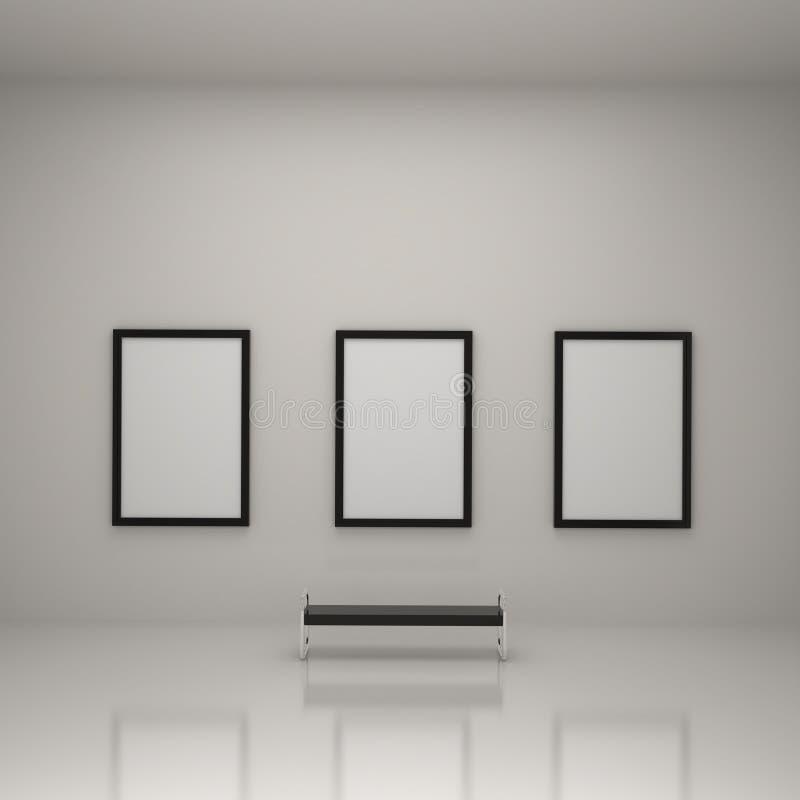 Anstrich innerhalb der Kunst-Galerie vektor abbildung