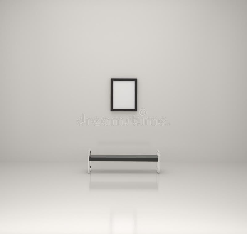 Anstrich innerhalb einer Galerie lizenzfreie abbildung