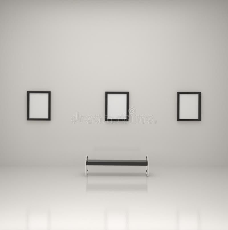 Anstriche innerhalb einer Galerie stock abbildung