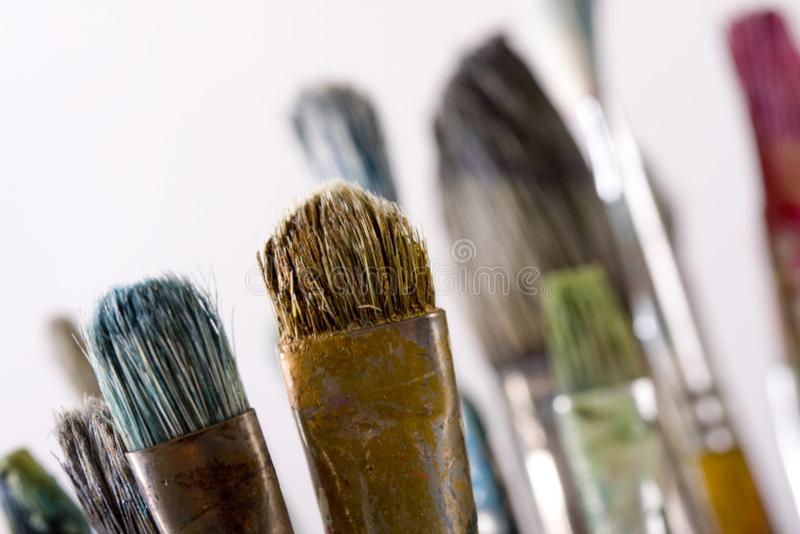 Download Anstrichpinsel stockfoto. Bild von kreativität, lack, zeichnung - 9077860