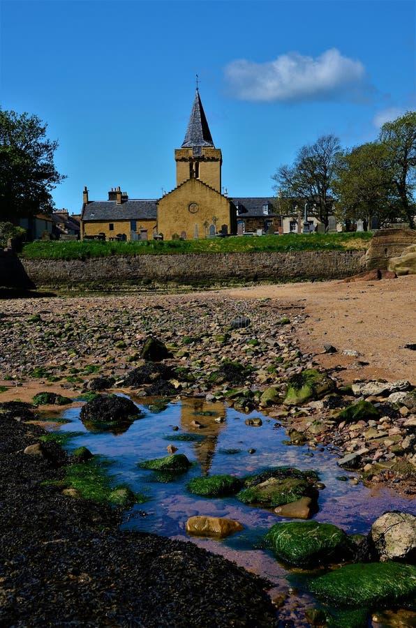 Anstruther Kustlandschap - de Oriëntatiepunten van Fife royalty-vrije stock fotografie