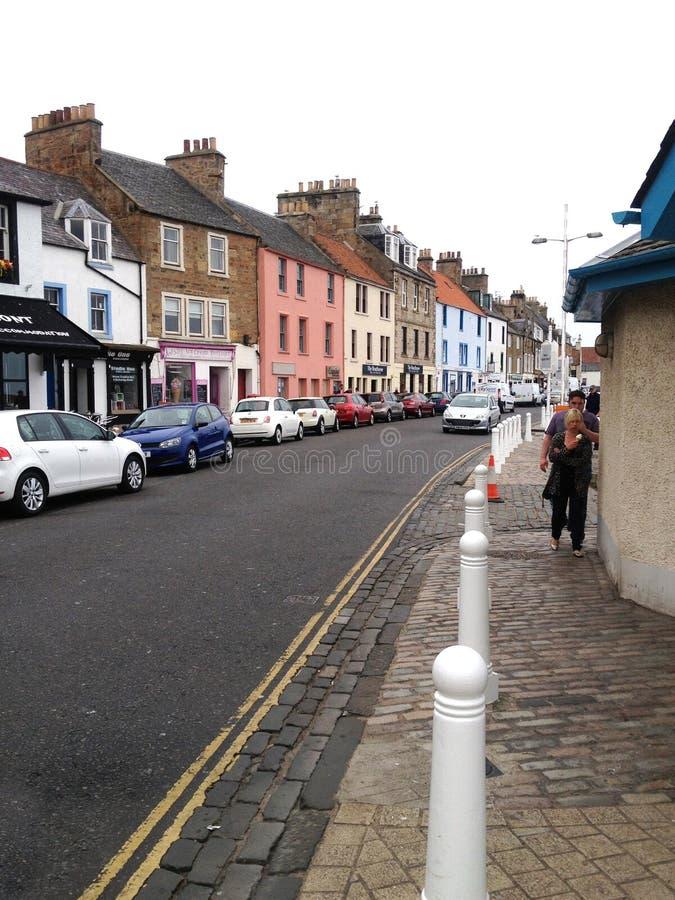 Anstruther no pífano, Escócia imagens de stock royalty free
