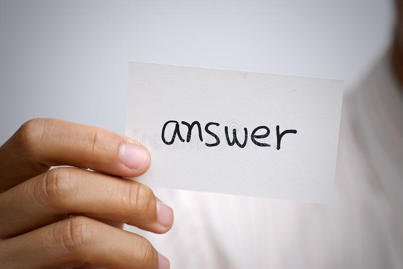 Download Answer Royalty Free Stock Images - Image: 15224719