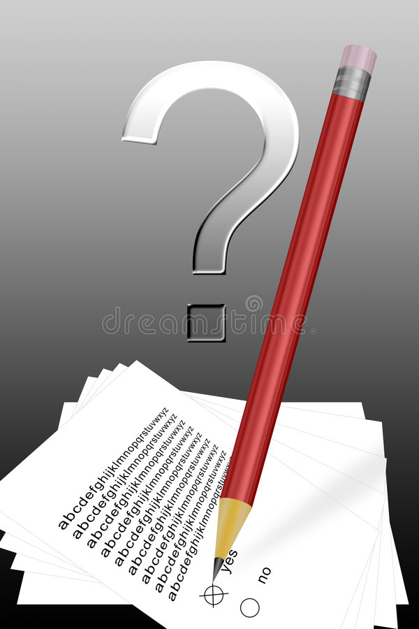Answer the question vector illustration
