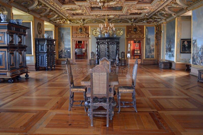 Anté pièce au grand hall - intérieur - château de Frederiksborg images libres de droits