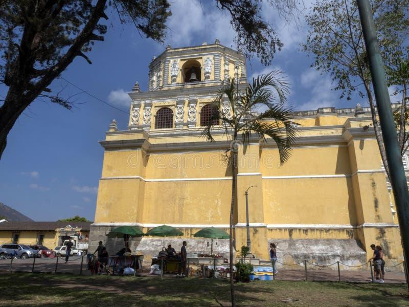 Antígua, Guatemala, Catedral preservado de San Jos fotos de stock royalty free
