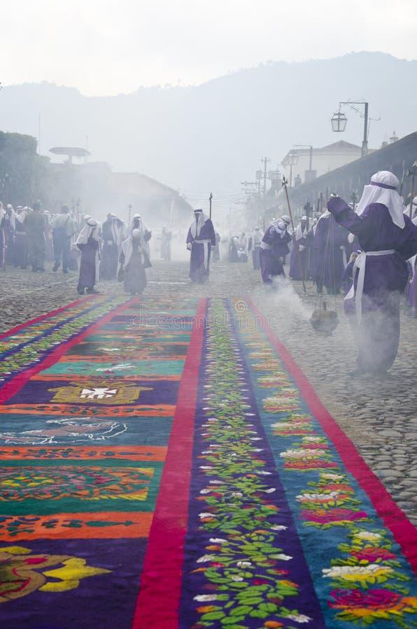 Antígua, Guatemala - Sexta-feira Santa imagens de stock