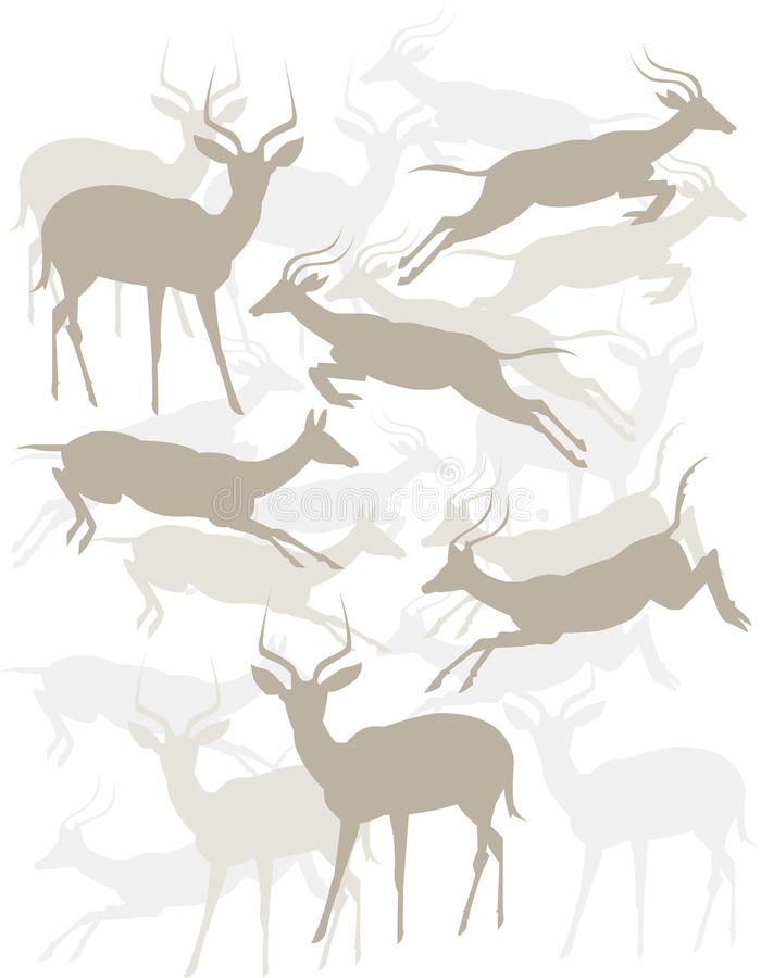 Antílopes Tonal ilustração stock